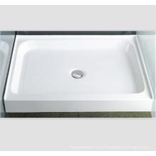 """Base de ducha con desagüe central trasero, umbral único, 42 """"x 42"""""""