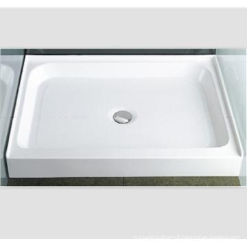 Base de douche à drain central arrière à seuil simple de 42 po x 42 po