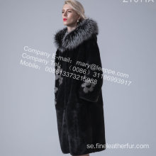 Hooded Kopenhagen Mink Fur Overcoat For Lady