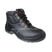 Black Five Buckles MID-Cut Safety Shoes (HQ648)