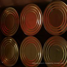 Pâte de tomate en conserve fraîche de 70g / 210g / 400g / 800g / 2200g