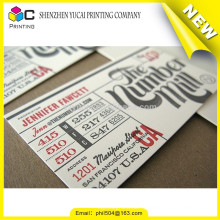 Custom shape luxury letterpress paper visiting card designer printer