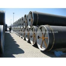 3PE Tubo de aço da camada da anticorrosão para o óleo e o gás natural.