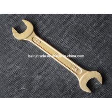 Outils à main non étincelants en laiton de clé ouverte d'extrémité double