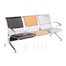 PU airport chair with three seat, Aluminum armrest and legs, Pu leather seater design (KS3A-3)