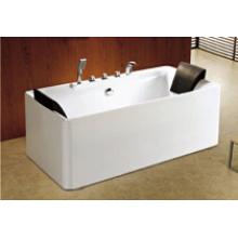 Smooth Surface Rectangle Whirlpool Massage Bathtub