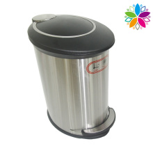 Creative Stainless Steel Foot Pedal Slow Down Close Dustbin (A5-SE)