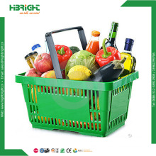 Best Selling Supermarket Plastic Grocery Shopping Baskets