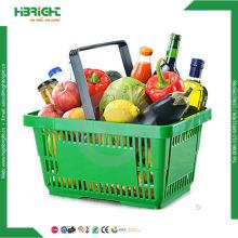 As melhores cestas de compras de supermercado plástico de venda do supermercado
