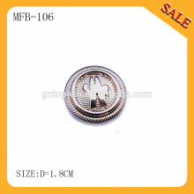 MFB105 High end buttons fashion alloy gold jeans button for garment