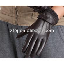Sheepskin embossed men style dress leather gloves