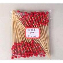 Venta caliente dos perlas de bambú Stick