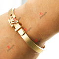 Pulseras Jewellry del oro de la manera para el regalo del día de tarjeta del día de San Valentín (B-16)