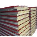 corrugated steel sheet and sandwich panels
