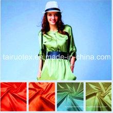 100% poly satin avec impression pour le tissu des vêtements des femmes