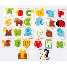 OEM for 3D Puzzle Wooden Toy Wooden Aninal Alphabet Puzzle Toys export to Puerto Rico Manufacturer