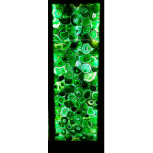 semiprecious stone green agate slab