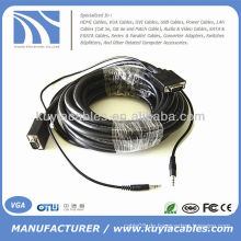 30FT VGA SVGA Kabel mit Audio 15 Pin Laptop zu TV LCD Computer 10M