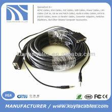 Cable VGA SVGA con cable de audio