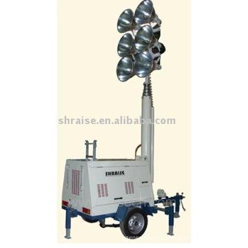 Torre de iluminação diesel RZZM43C-Hydraulic (torre de iluminação, torre de iluminação móvel, torre de iluminação portátil)