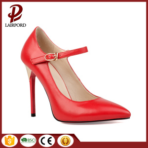 red leather self coverd heel sexy shoes