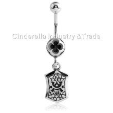 Surgical Steel Kool Katana Belly Rings Dangling-Tag