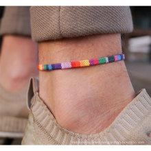 New Gay Hand-Woven Rainbow Anklet Love Is Love Gay New Foot Rope