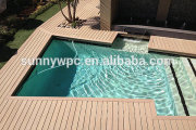 Anti-slip outside Decking for Swimming pool, Wood Plastic Composite Decking
