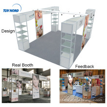 Detian Offer 4x5m aluminum profile pvc panel trade show booth for hair exhibition