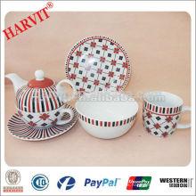 El mejor regalo de la porcelana del hogar 3PCS para el desayuno de una persona o los sistemas de la vajilla fijados