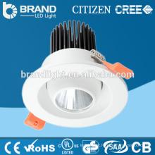AC85-265V100lm / w redondo COB LED Downlight 9w com Ce Rohs