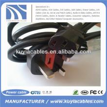 BS / British Stromkabel 18 AWG l Netzkabel (IEC320C13 bis BS 1363)