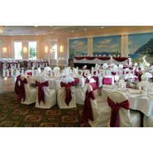 Polyester chair cover,hotel/banquet chair covers,satin sash