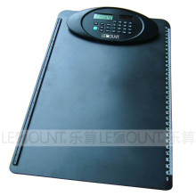 A4 Tamaño 8 Digitas Dual Power Clipboard Calculadora con regla (LC632)