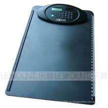 A4 Größe 8 Digits Dual Power Clipboard Rechner mit Lineal (LC632)