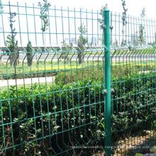 Clôture en maille de fer en fer revêtu de PVC (YB-008)
