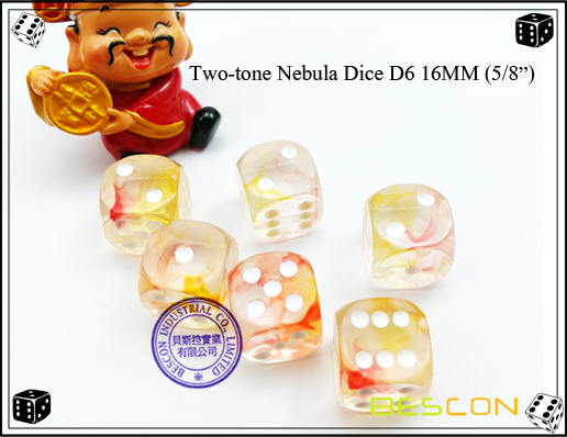 Two-tone Nebula Dice D6 16MM