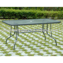 Metal glass patio outdoor garden table