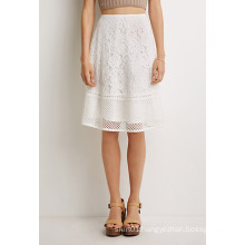 OEM Popular Lace Pattern Simple Ladies′ Fashion Skirt