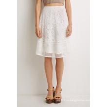 OEM популярные кружева Pattern Простые дамы моды юбки