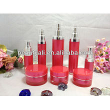 cylindrical plastic acrylic cosmetic jars and bottles