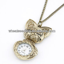 2013Fashion Antique Rabbit Cartoon Brass Pocket Watch 110401123