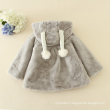 Noël 2016 doux manteaux à fourrure enfants adorable gris / rose / crémeux vestes filles hiver chaud clothess fashion Halloween