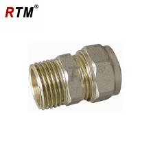 conector macho recto pex-al-pex tubo accesorio de compresión de latón