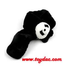 Плюшевый мех Панда Черный шарф