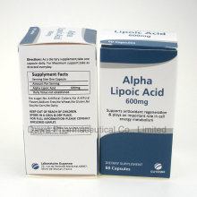 GMP Factory Supply para Anti-Age Alpha Lipoic Ácido Cápsulas