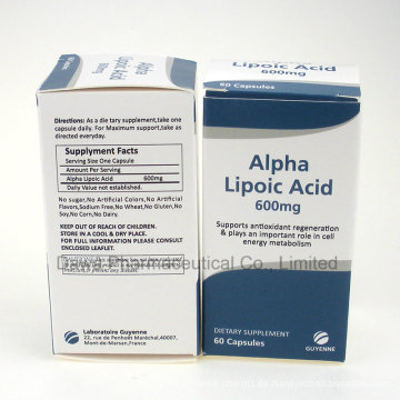 GMP-Fabrik-Versorgung für Anti-Age Alpha-Liponsäure-Kapseln