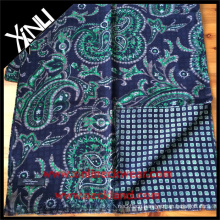 Paisley Geometrical Reversible Printed Scarf for Men in Blue Green Business Suit Scarf