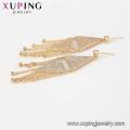 64444 mode großhandel china luxus dreieck typ weißer diamant vergoldet quaste schmuck-set