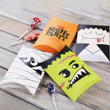 Customized Printed Paper Pillow Box For Halloween